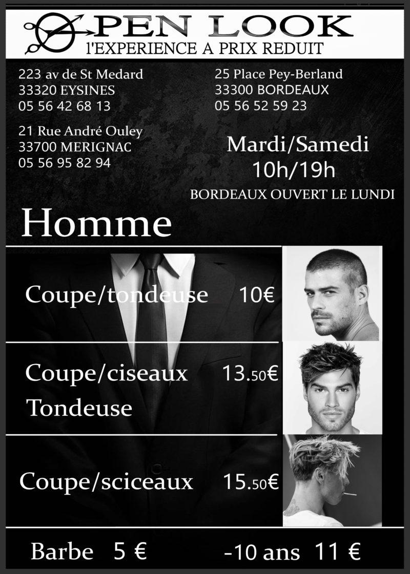 Tarifs-Hommes-Open-Look-Merignac-Eysines-Bordeaux